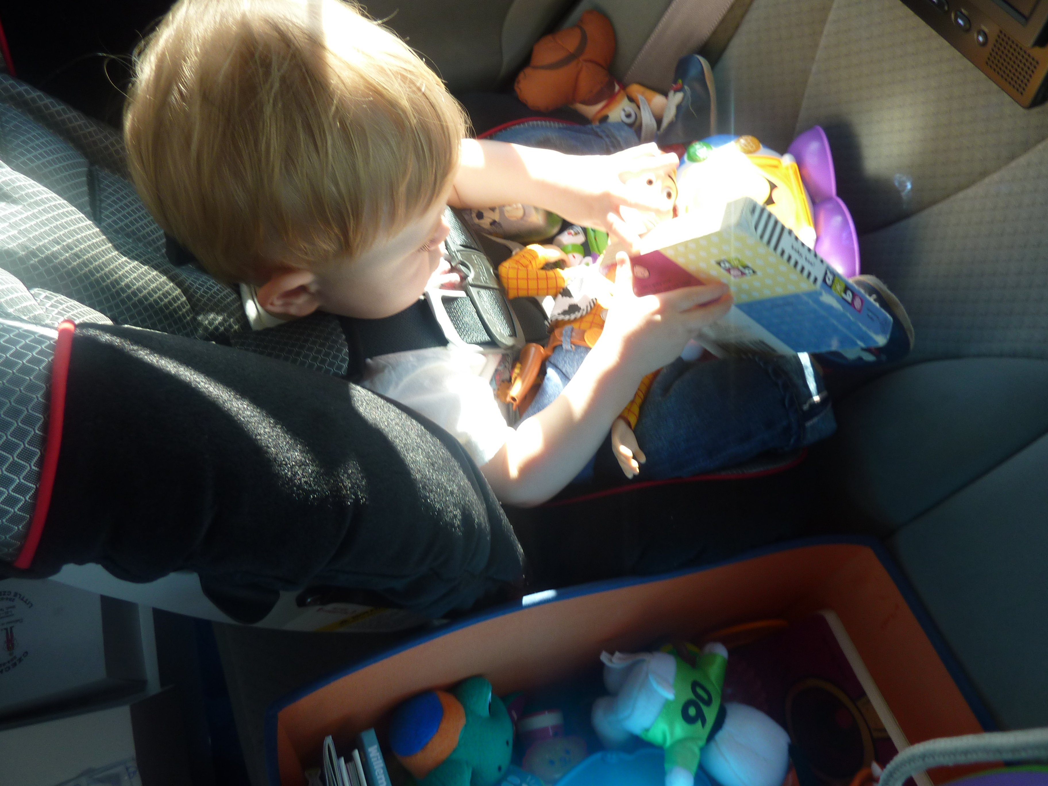 """""""Are we there yet?!?"""" – Keeping young children busy on long car rides"""