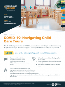 navigating child care tours during covid-19 pandemic