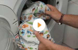 washing a cloth diaper