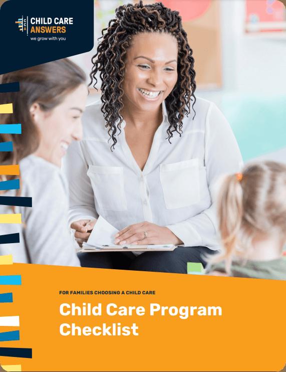 child care program checklist