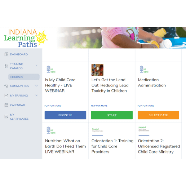 indiana learning paths register